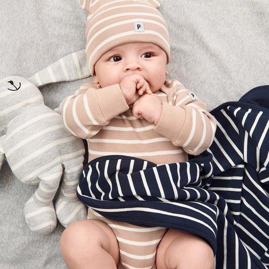 Stripet body baby beige
