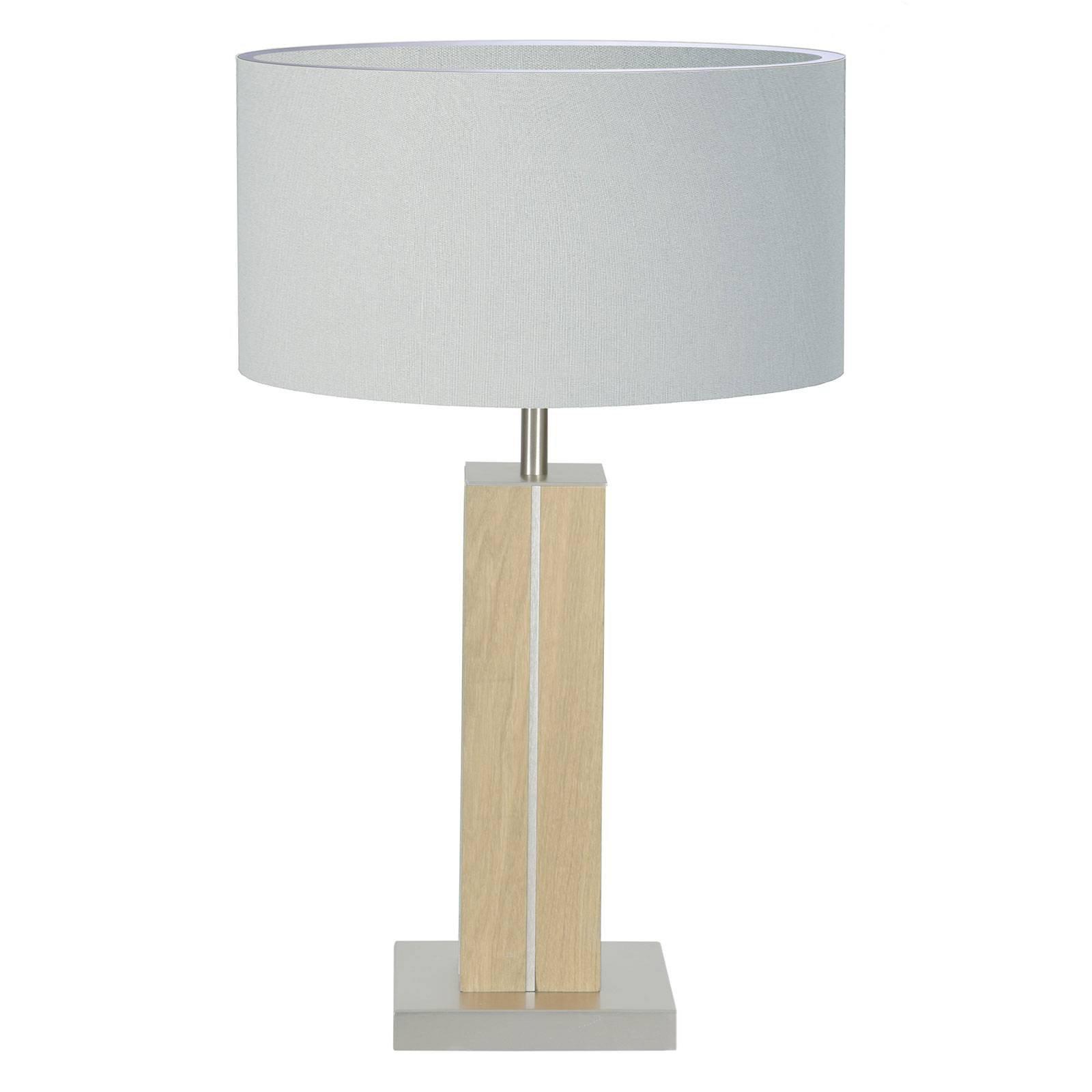 HerzBlut Dana bordlampe, eik natur, hvit, 56 cm