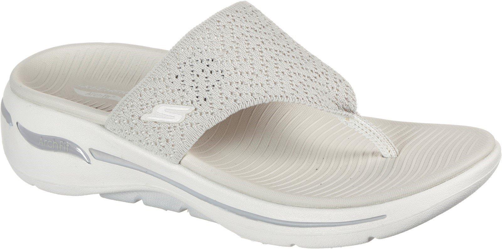 Skechers Women's Go Walk Arch Fit Sandal Various Colours 32151 - Natural 3