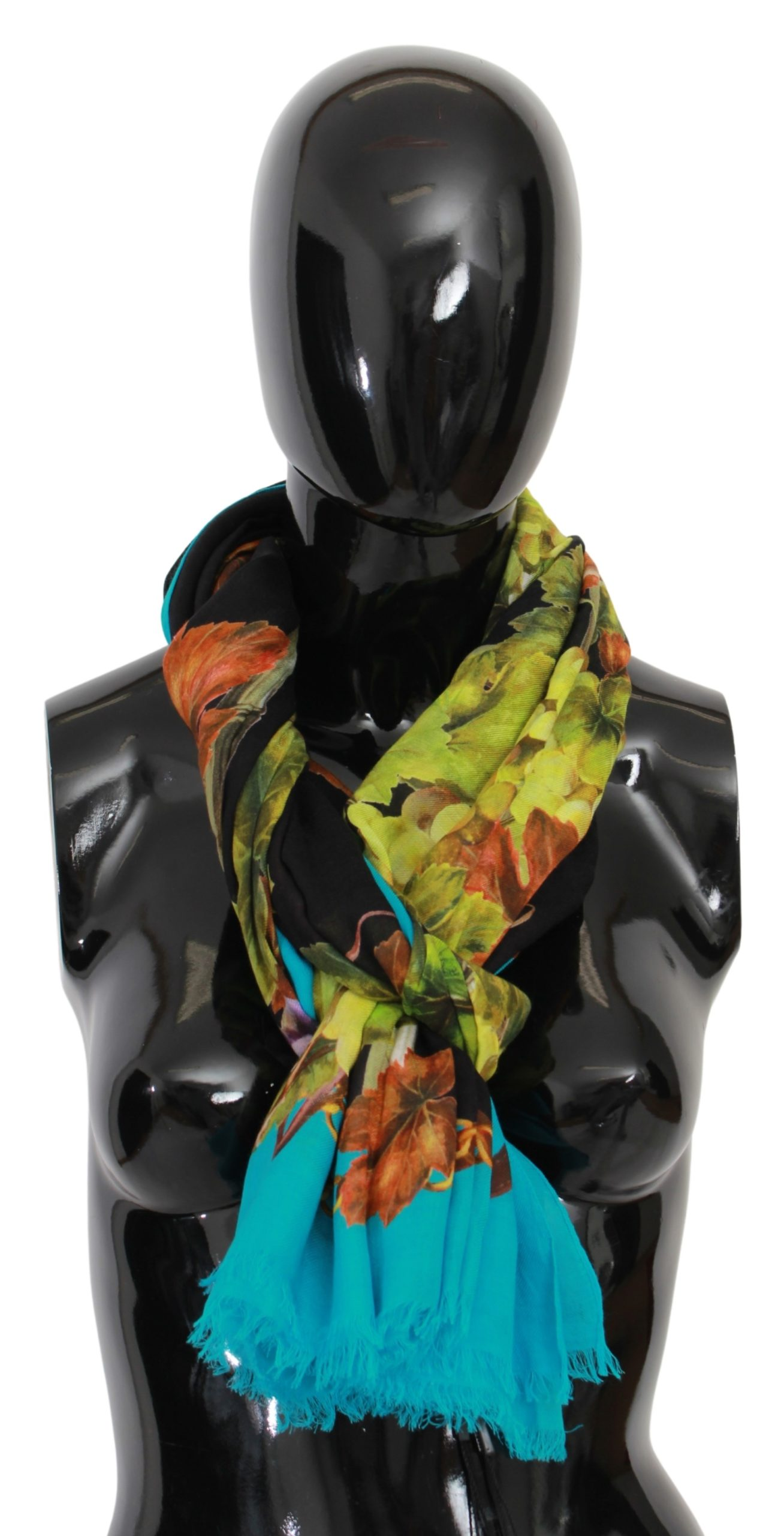 Dolce & Gabbana Women's Grapes Print Modal Scarf Multicolor MS1689