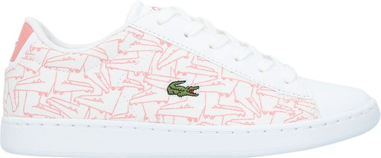 Lacoste Carnaby Evo 318 Sneaker, White/Pink 28