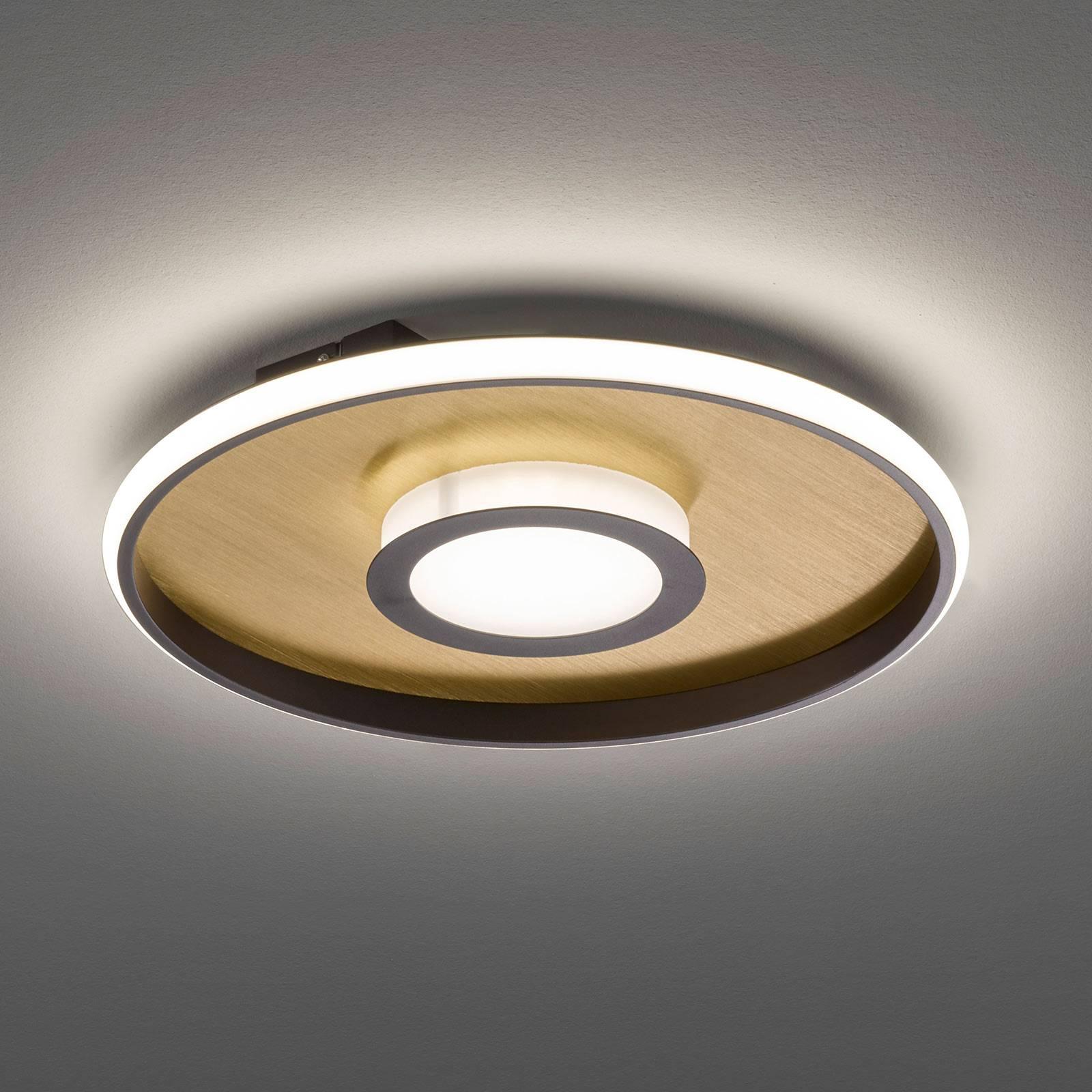 LED-kattovalaisin Zoe, pyöreä, kulta-ruoste, 45 cm