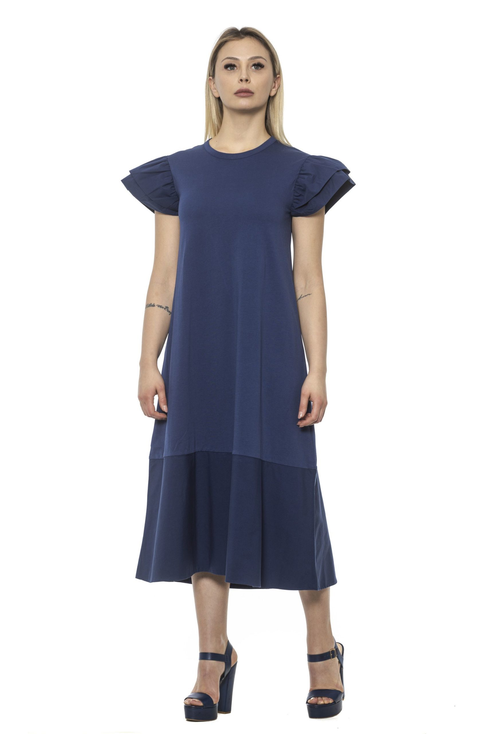 Alpha Studio Women's Mirtillo Dress Blue AL1374971 - IT40 | XS