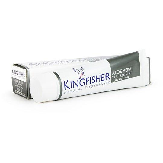 Kingfisher Fluorfri Tandkräm Aloe Vera, Tea Tree & Mint, 100 ml