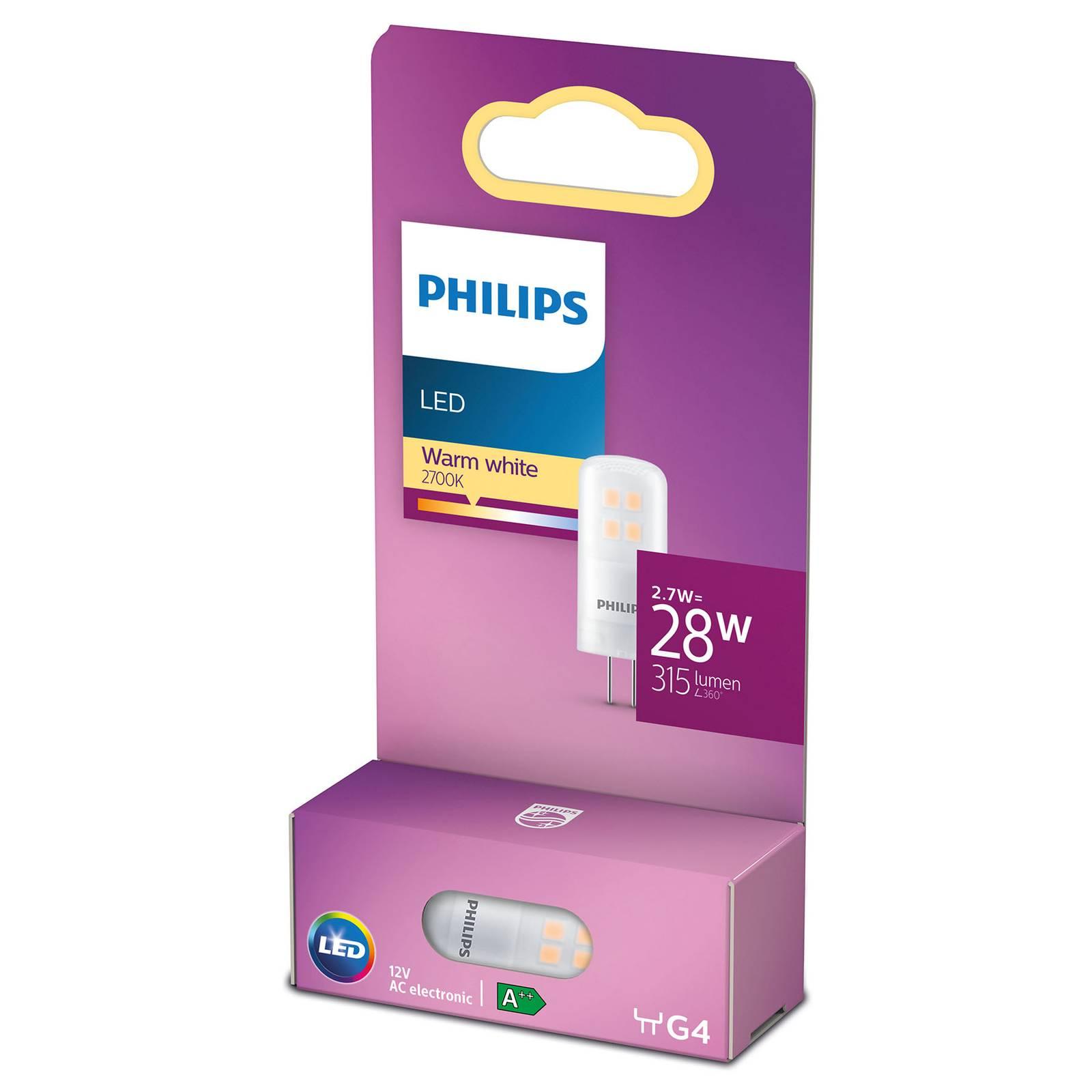 Philips kaksikantainen LED-lamppu G4 2,7W 2 700 K