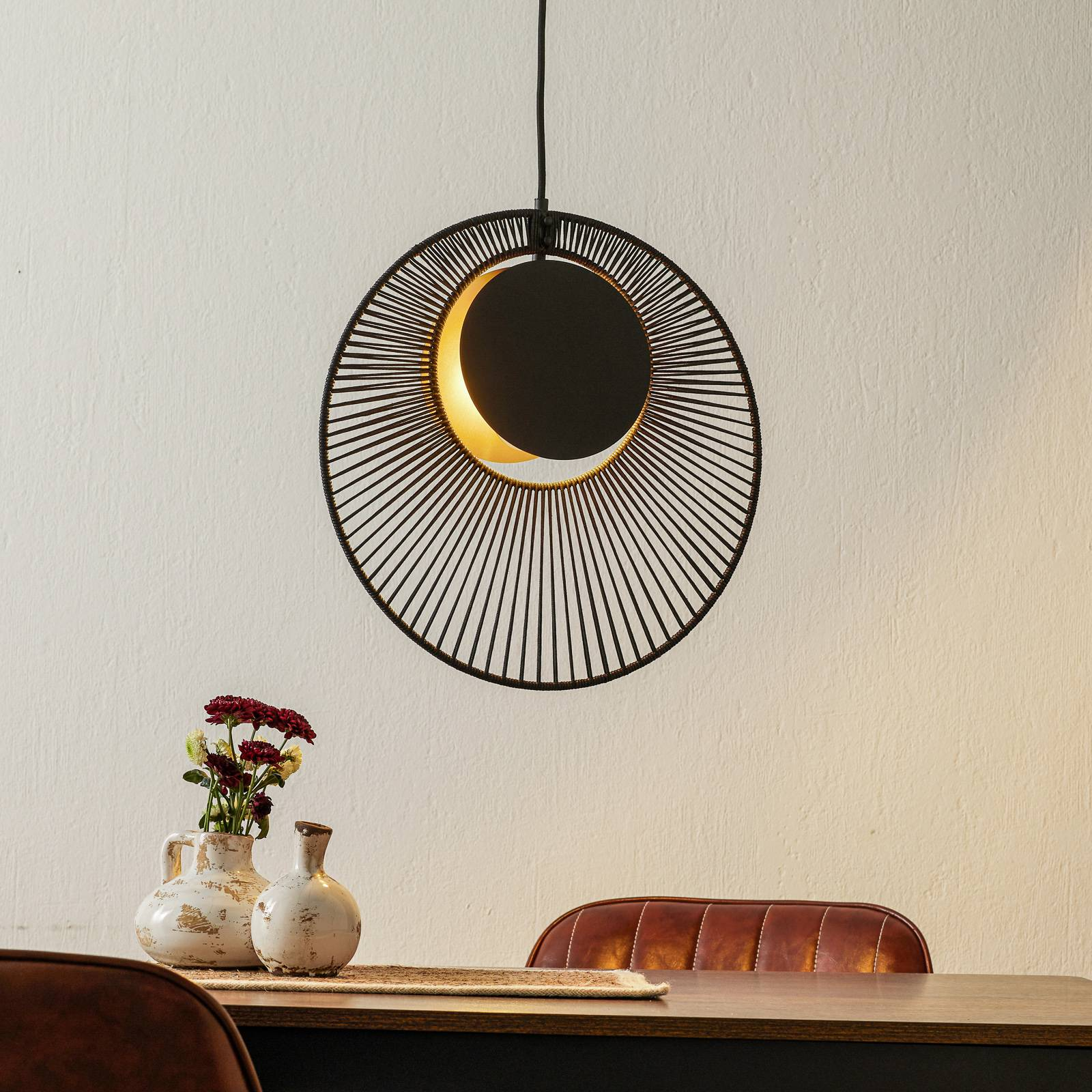 Forestier Oyster -design-riippuvalaisin, musta