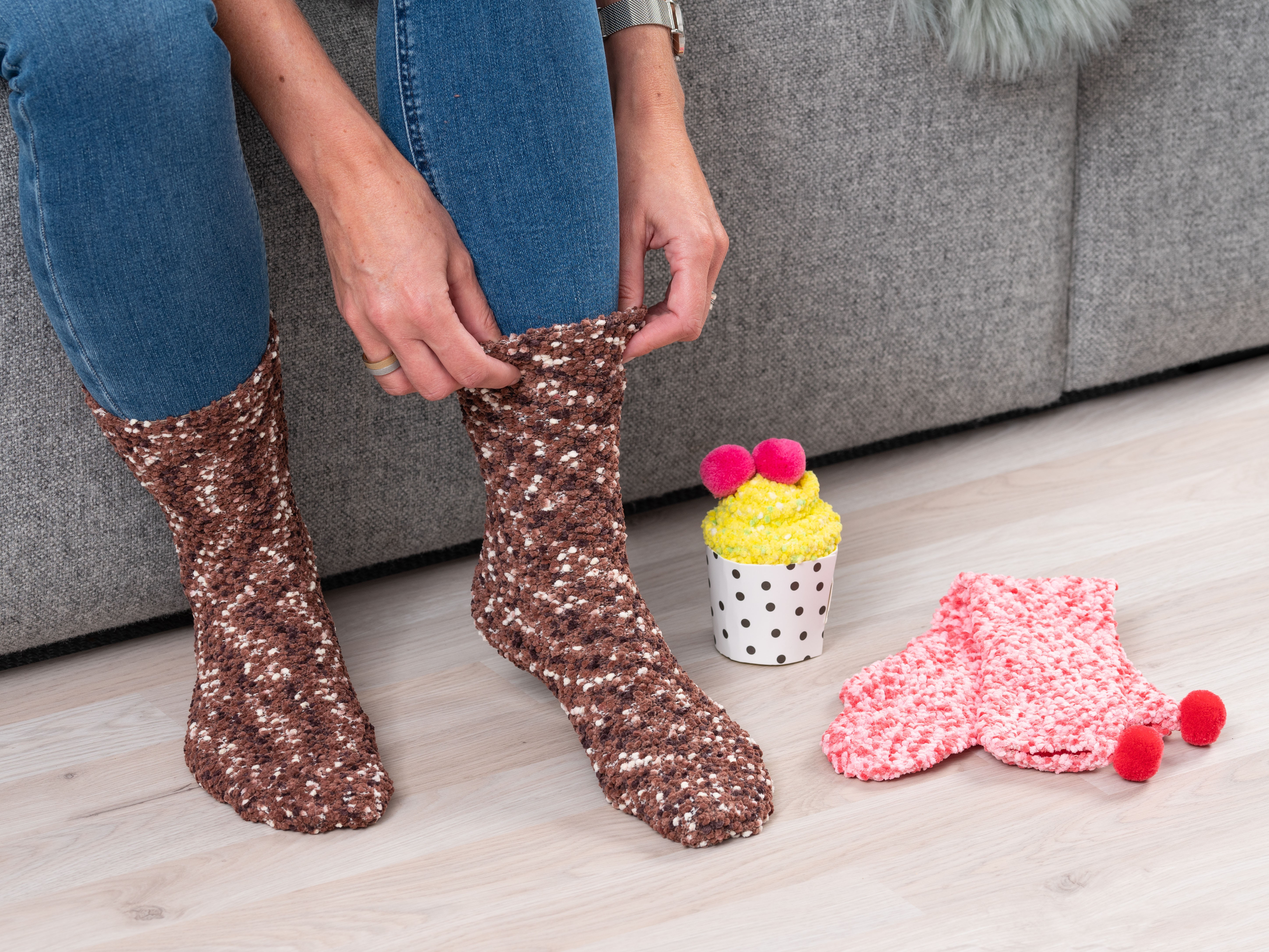 Cupcake Socks - Citron