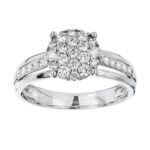 Diamant ring i 18K guld, 17.0