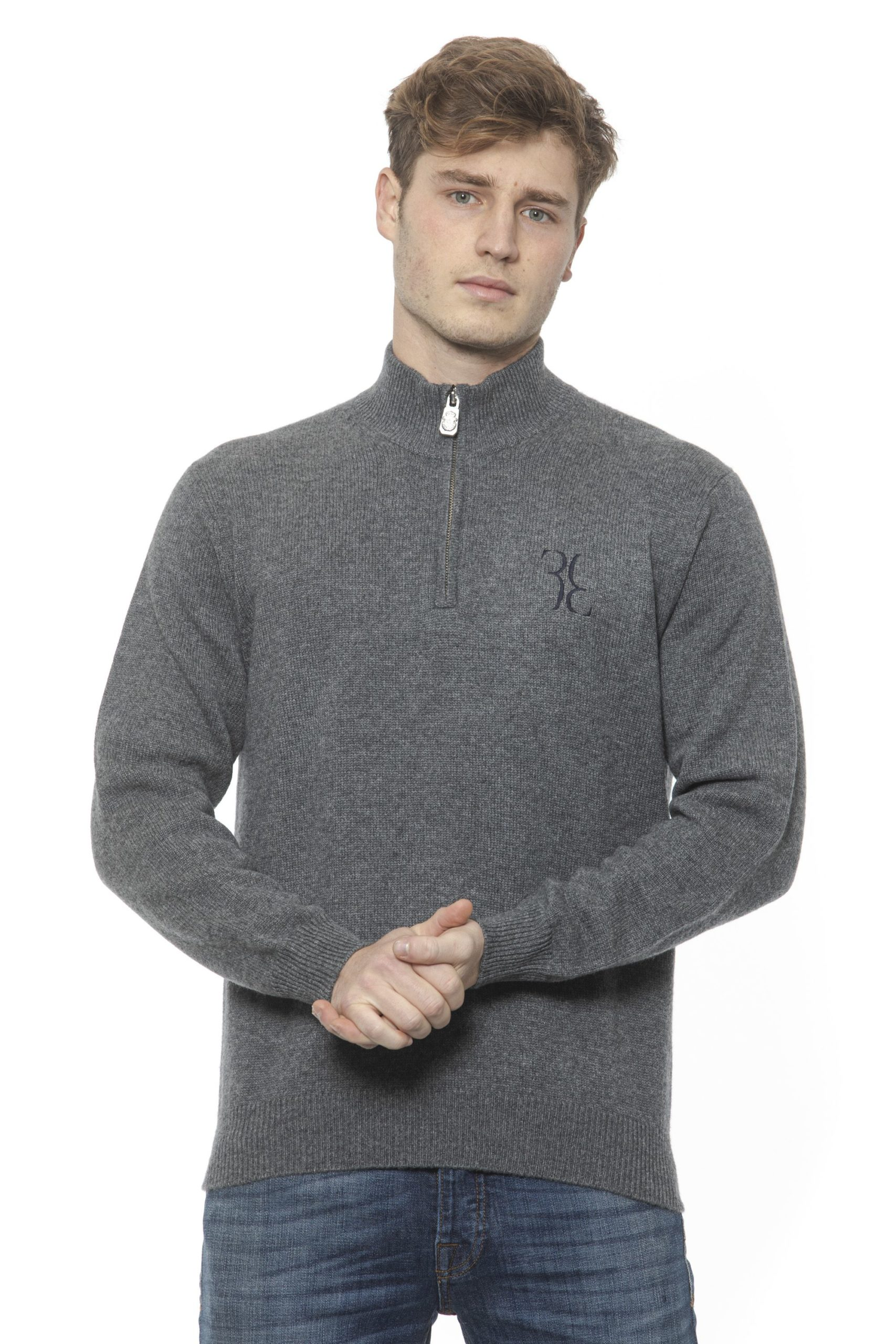 Billionaire Italian Couture Men's Grigio Sweater Grey BI1313345 - XL