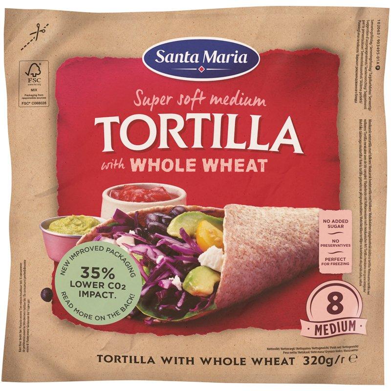 Tortillaleivät Whole Wheat Medium - 34% alennus
