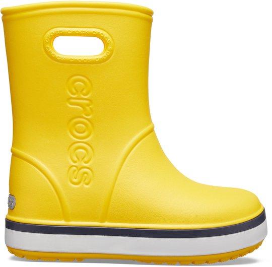 Crocs Crocband Gummistøvel, Yellow/Navy 22-23