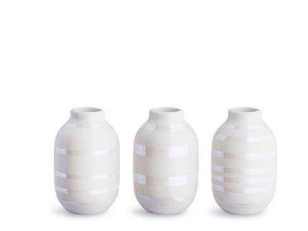 Omaggio vase miniatyr 3-pakk Perle H 8 cm
