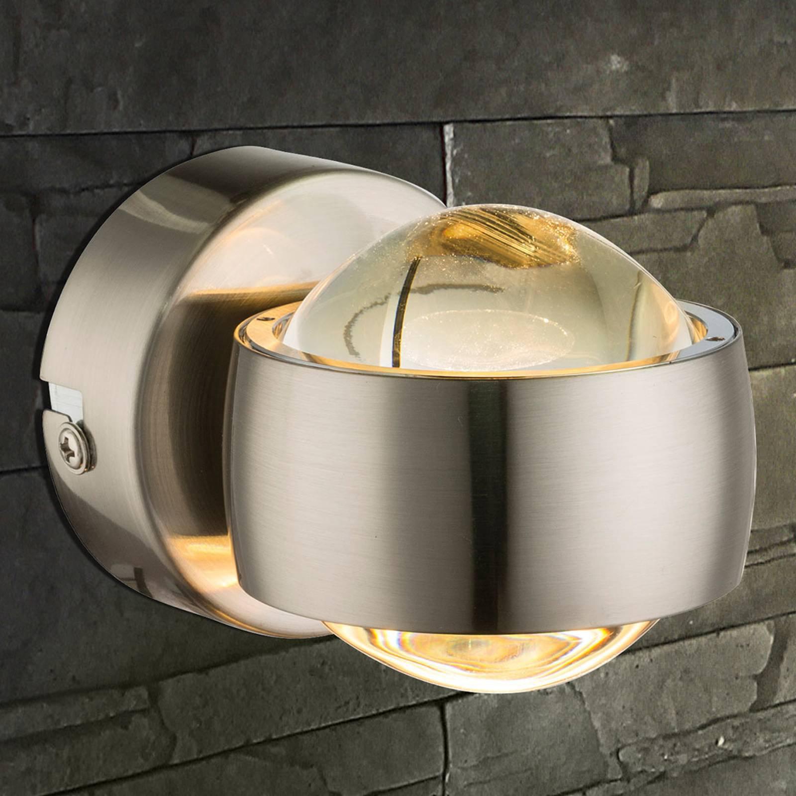 LED-vegglampe Randi med flott effekt, nikkel