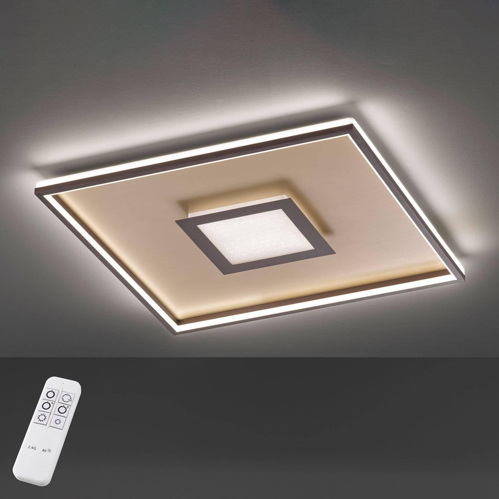Bug LED-taklampe, kvadratisk, rust 80x80cm