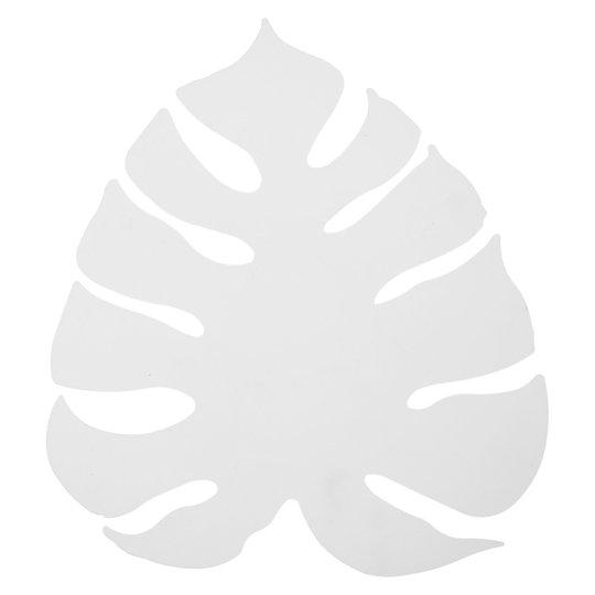 LED-vegglampe Monstera som ark, hvit