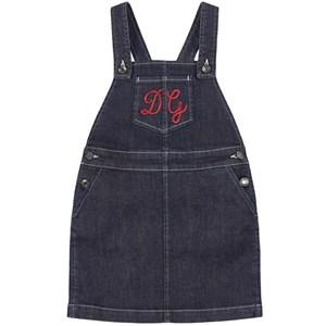 Dolce & Gabbana Logo Denim Hängselklänning Blå 4 år