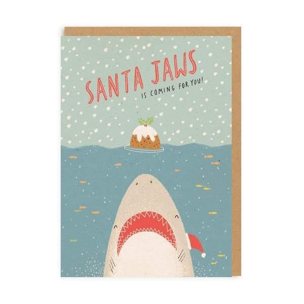 Santa Jaws Christmas Greeting Card
