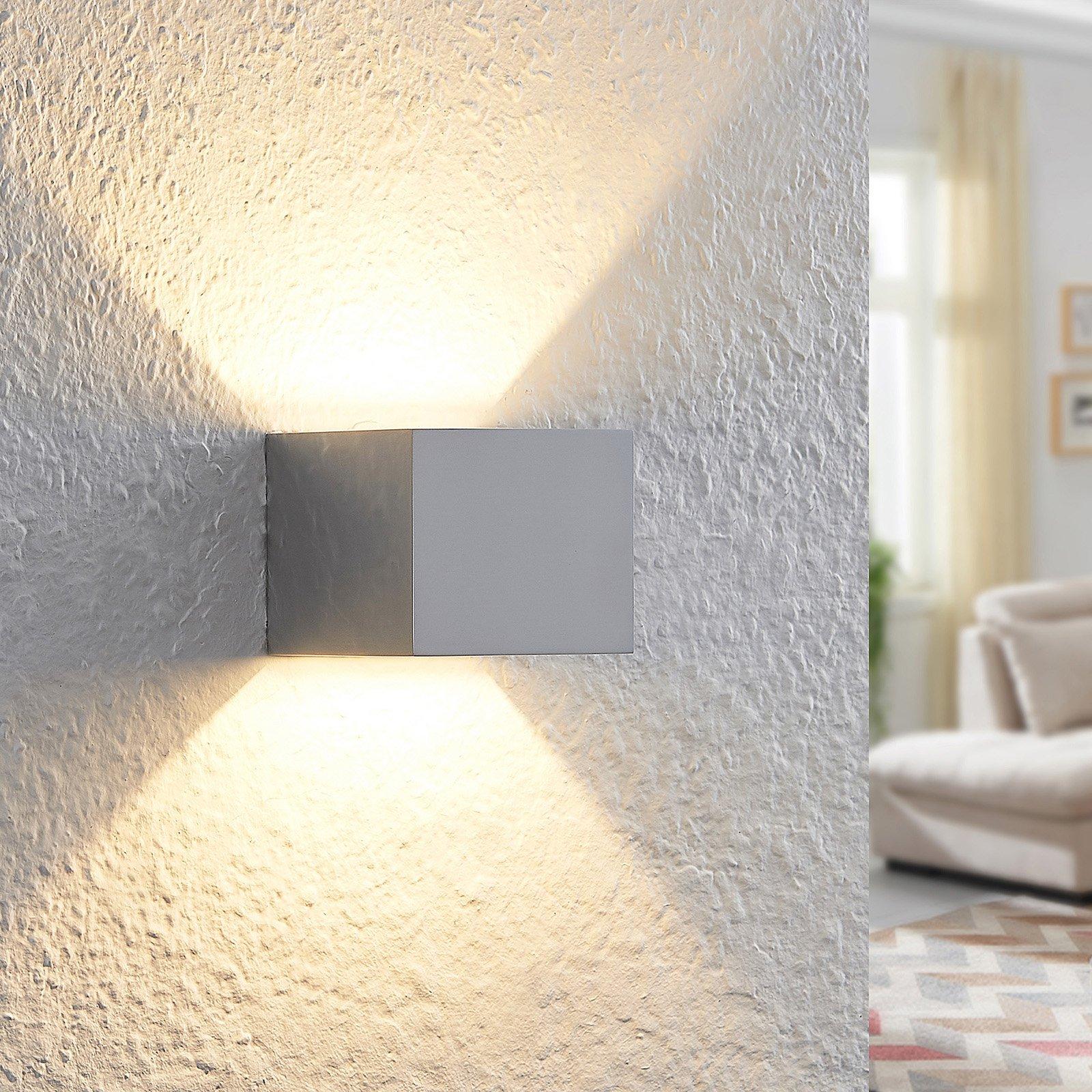 Arcchio Antonin LED-vegglampe, aluminiumspolert