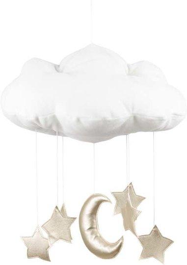 Cotton & Sweets Sengeuro Sky, Hvit/Rosa/Stjerner