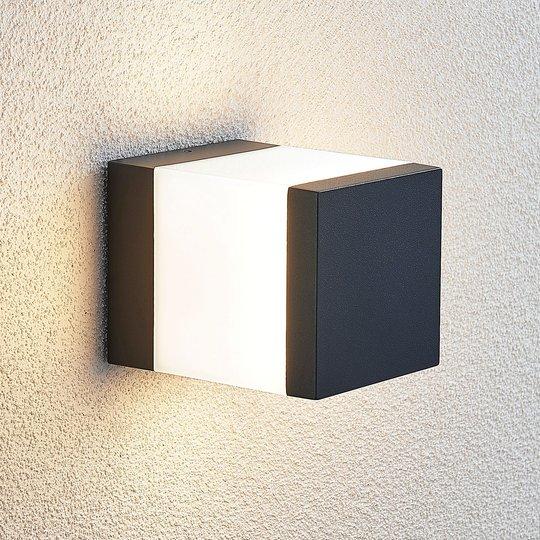 LED-pollarivalaisin Litas, kulmikas, tummanharmaa