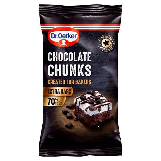 Dr. Oetker Extra Dark Chocolate Chunks 100g