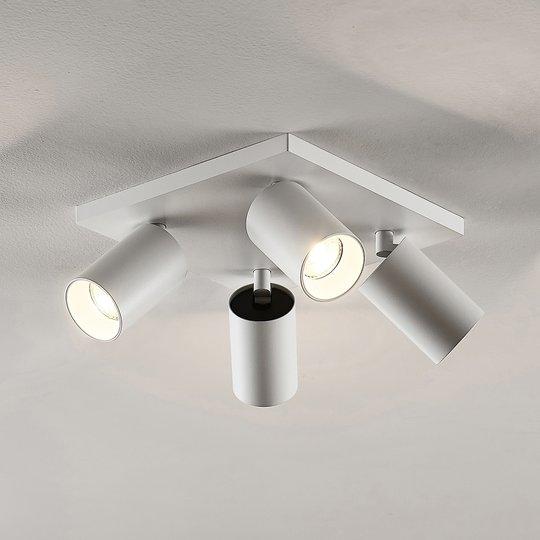 Kohdevalo Brinja GU10 valkoinen 4 lamppua