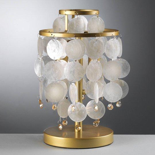 Ruben bordlampe med perlemorskiver