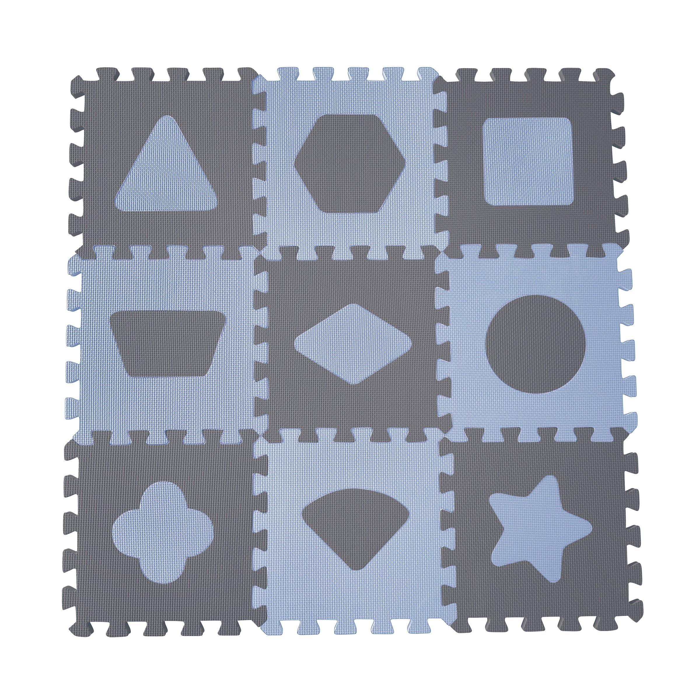 Baby Dan - Playmat Geometric Shapes - Blue