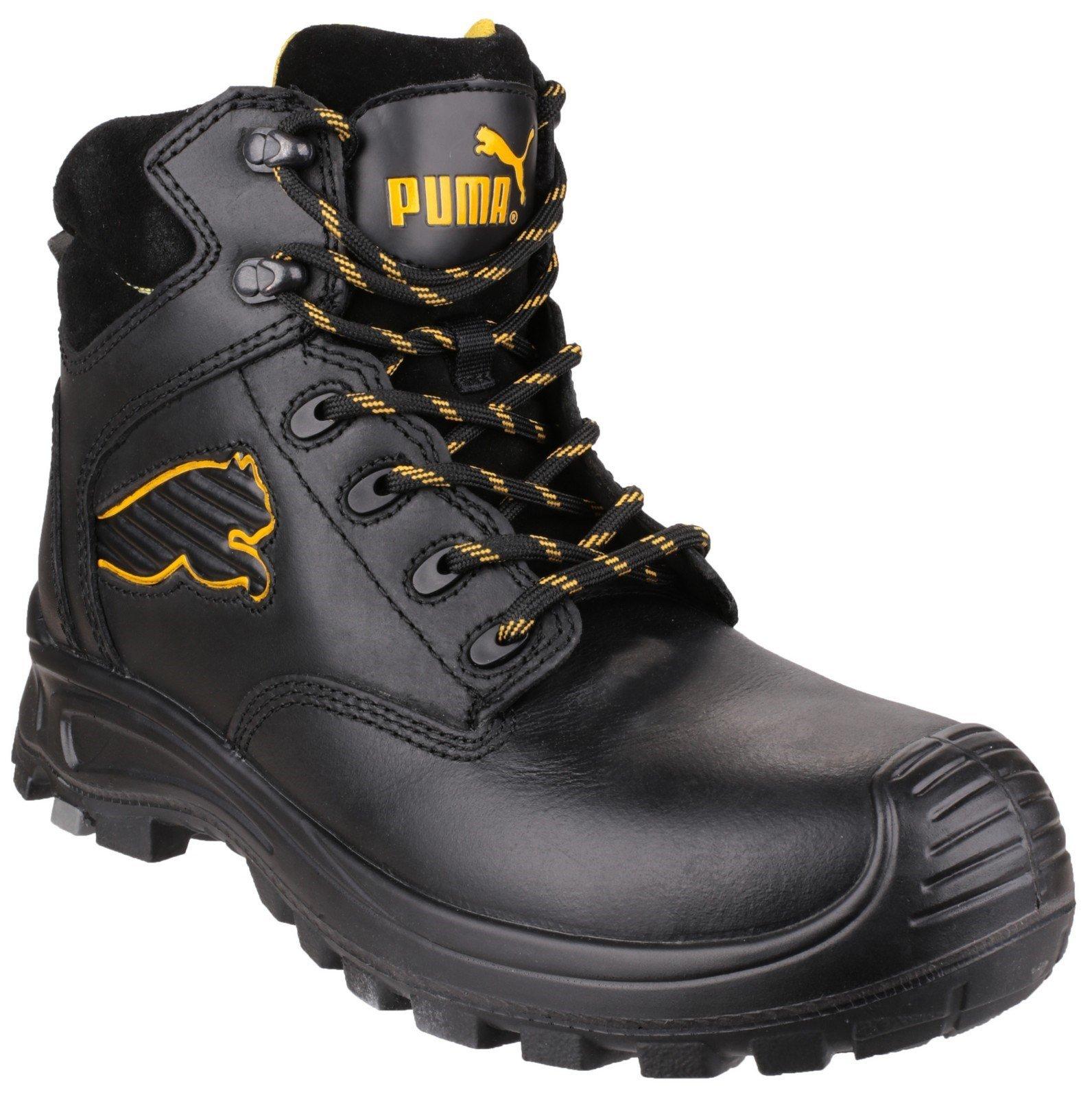Puma Safety Unisex Borneo Mid S3 Boot Black 23086 - Black 6