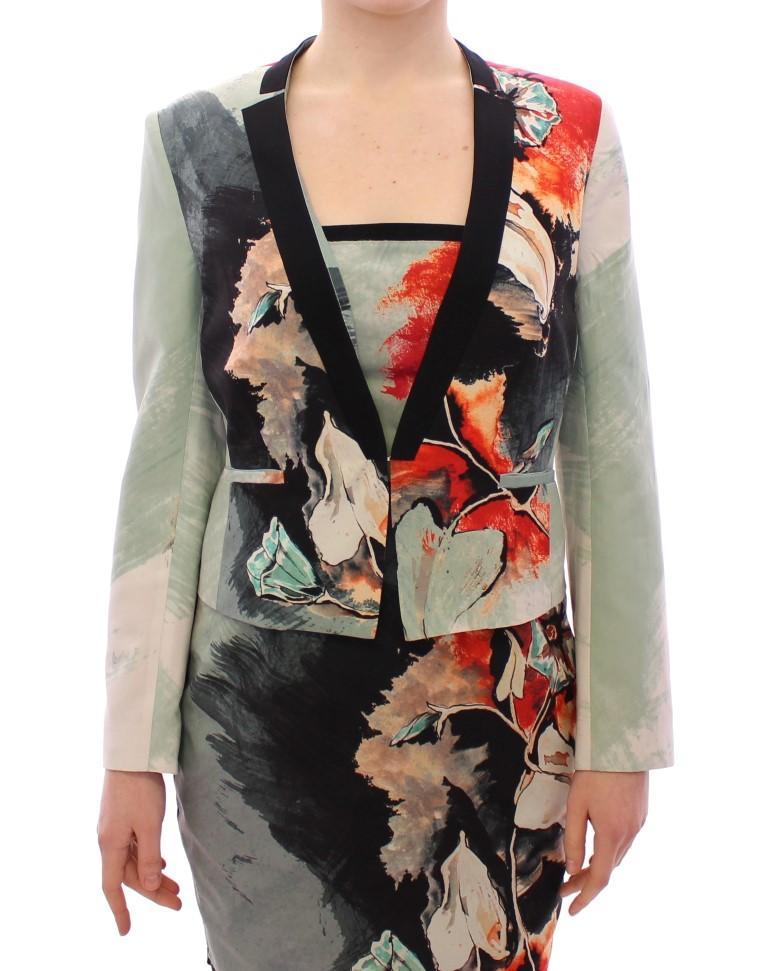 Multicolor Short Floral Blazer Jacket - IT40|S