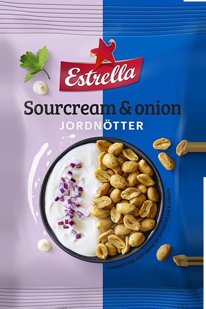 Estrella Jordnötter Sourcream & Onion 180g