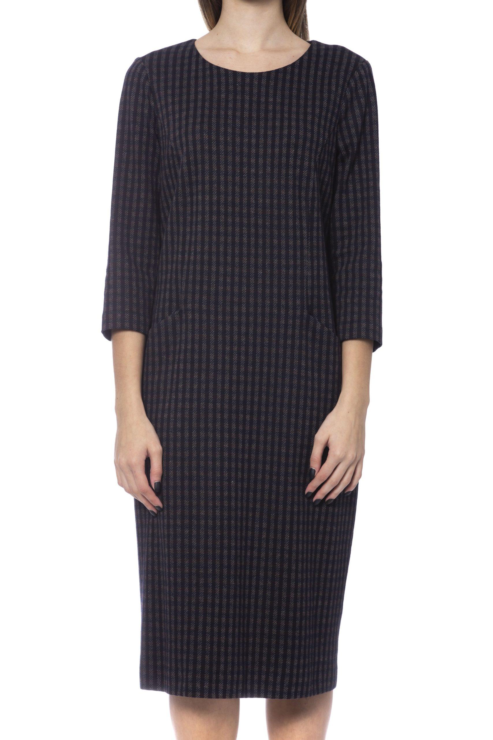 Peserico Women's Dress Blue PE993642 - IT42 | S