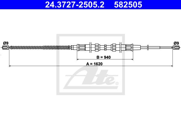 Käsijarruvaijeri ATE 24.3727-2505.2