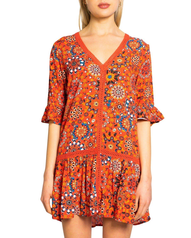 Desigual Women's Dress Various Colours 243271 - orange L