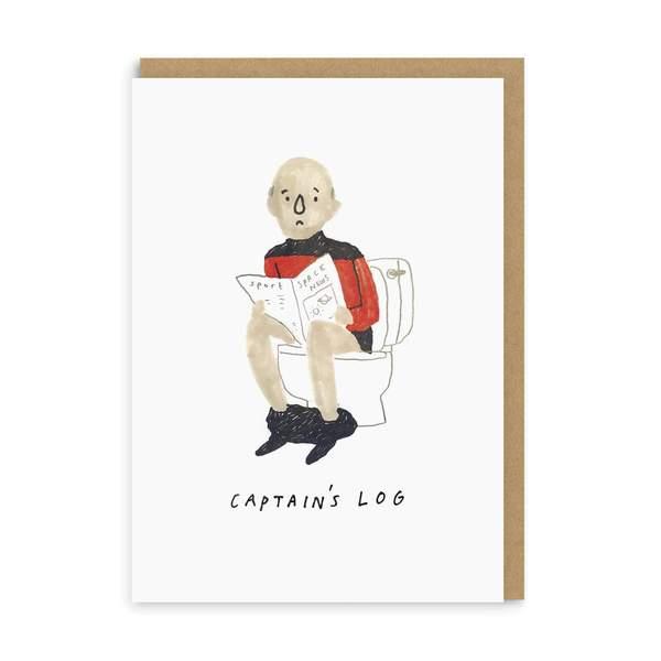 Captain's Log Greeting Card