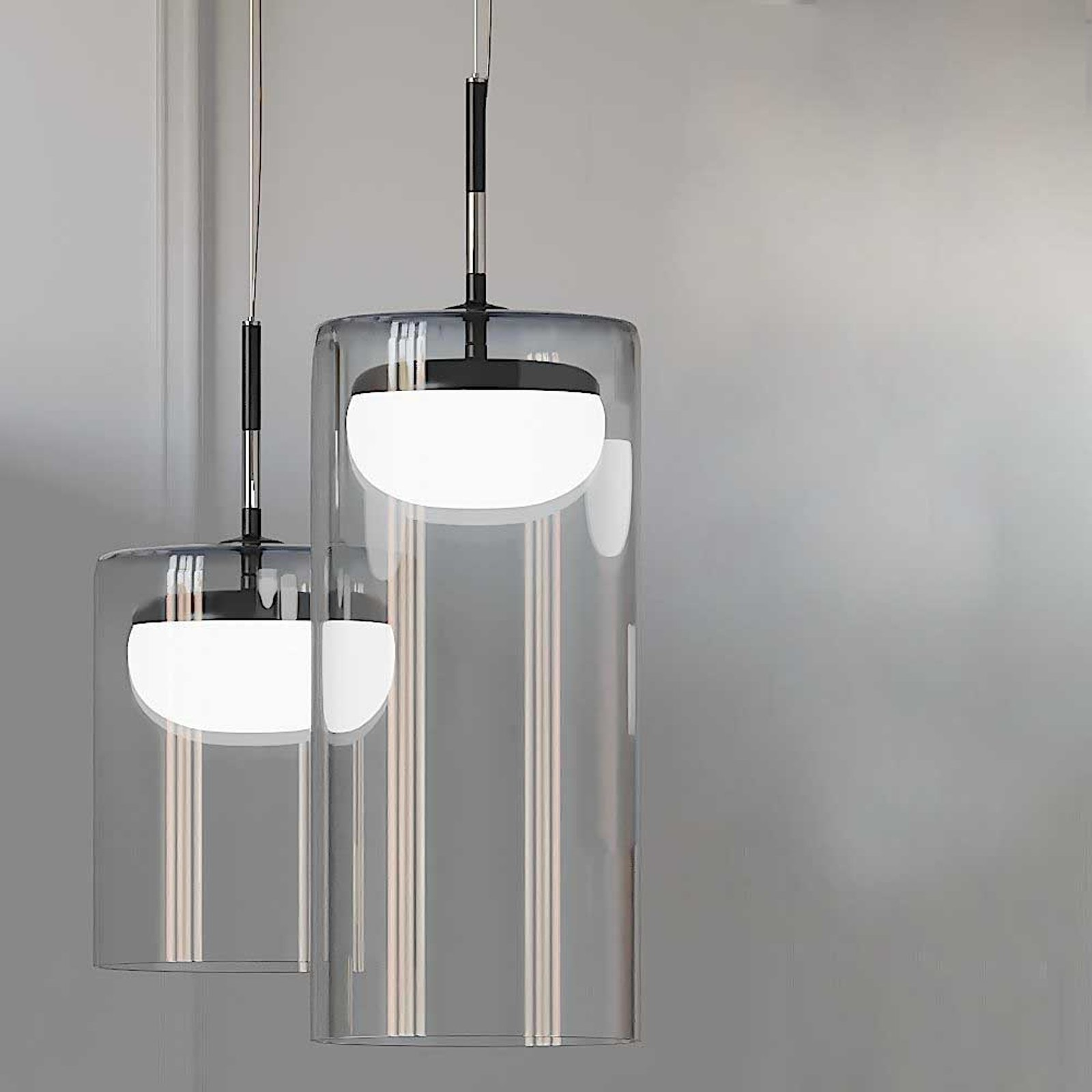 Prandina Diver LED-hengelampe S1 2 700 K svart