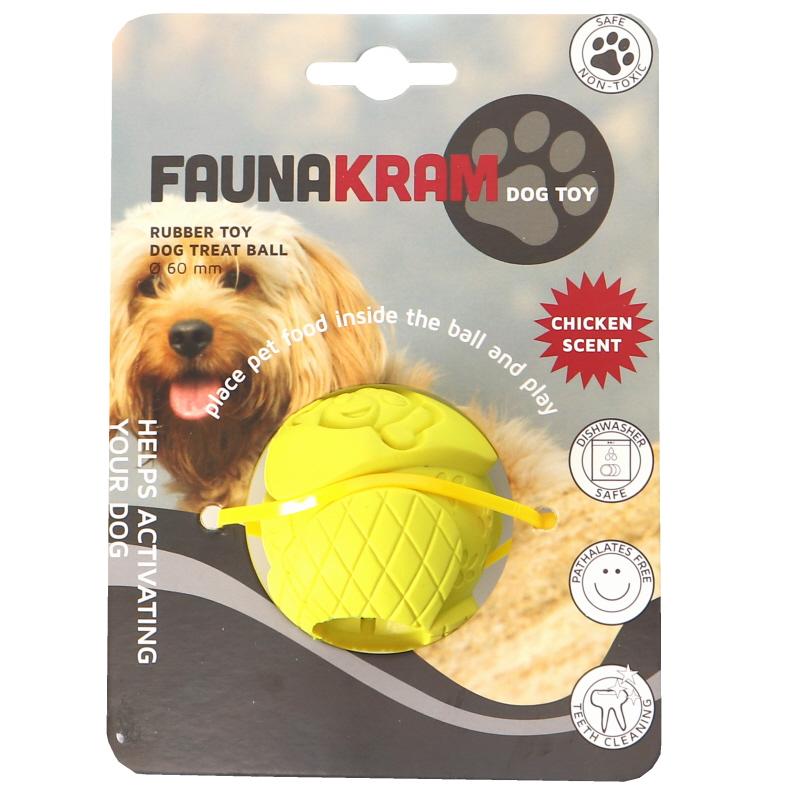 Koiranlelu Keltainen Pallo - 44% alennus