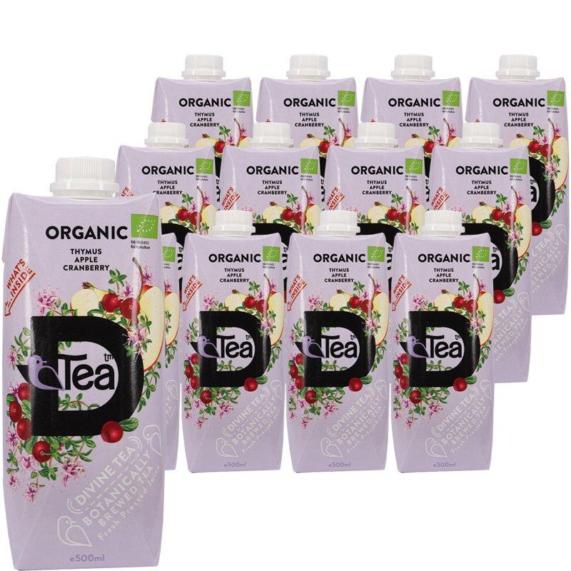 Luomu Teejuomat Thymus, Apple & Cranberry 12kpl - 78% alennus