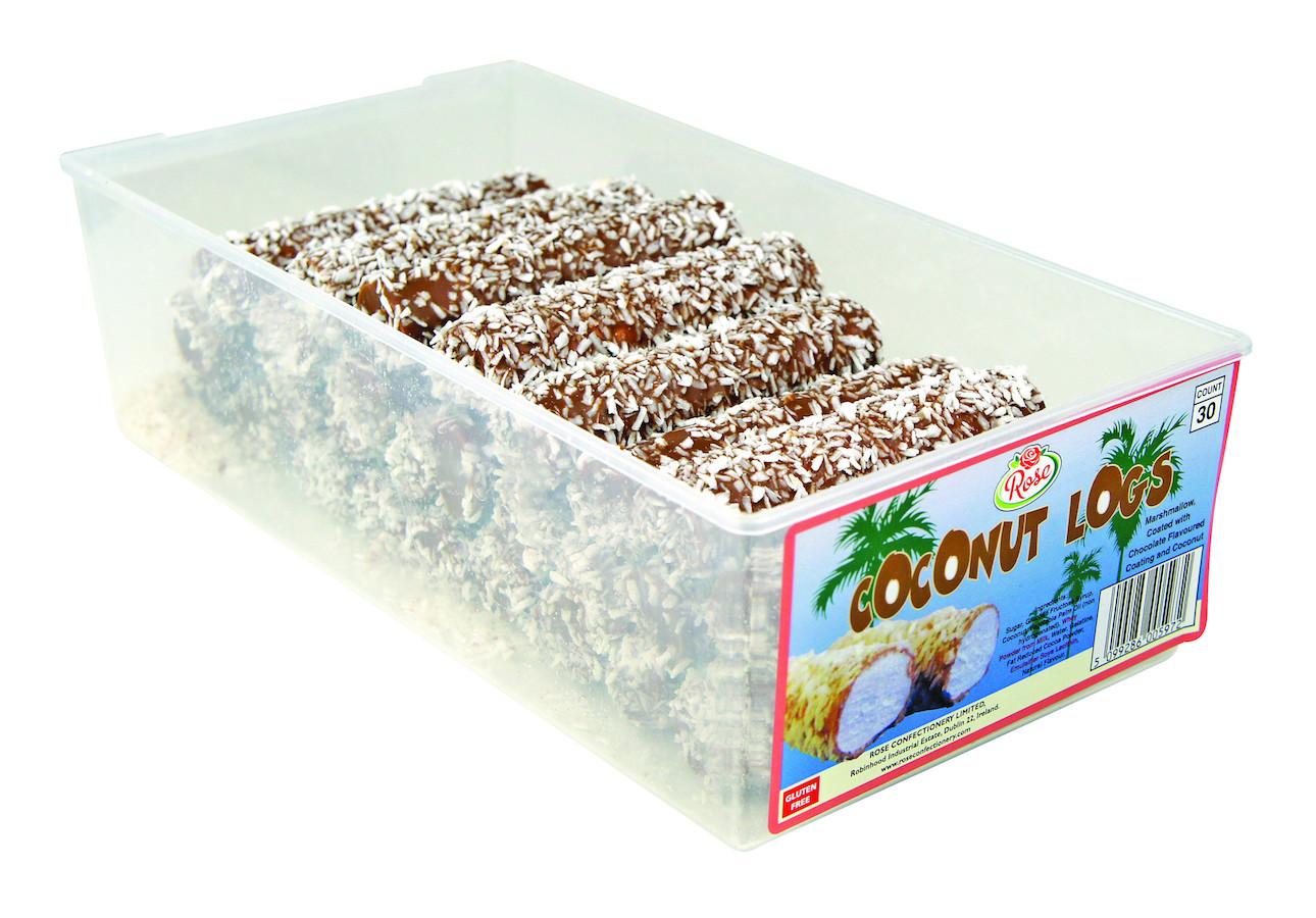 Rose Coconut Logs
