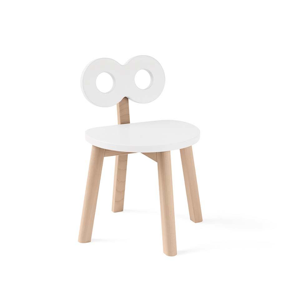 Ooh Noo - Double-O Kids Chair, White (40DOC1701)