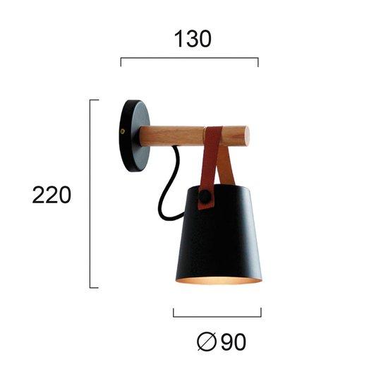 Vegglampe Vetra med stålskjerm, svart