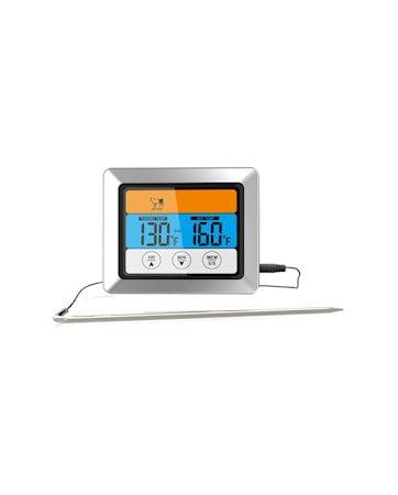 Steketermometer svart digital med ledning