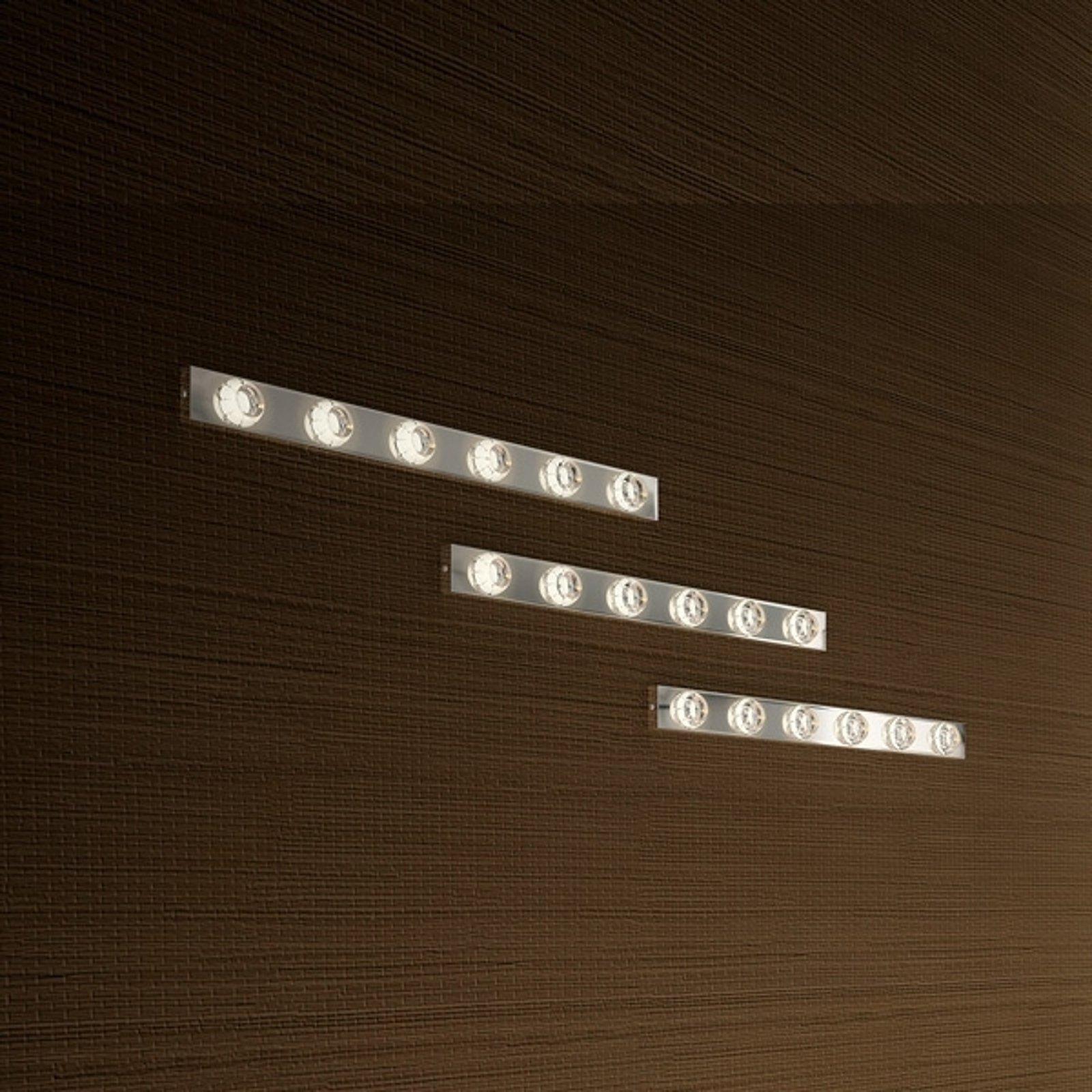 Dekorativ LED-vegglampe Puns krom 6 lys