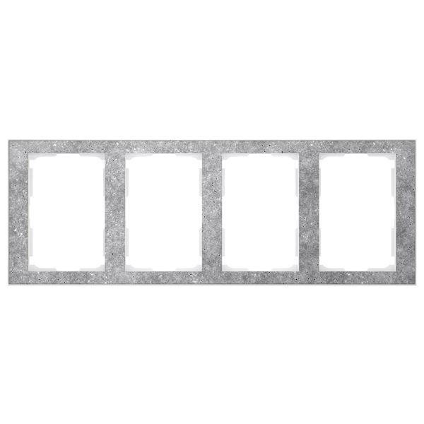 Elko EKO06084 Kombinasjonsramme betong/hvit, 1½-roms 4 x 1½ rom