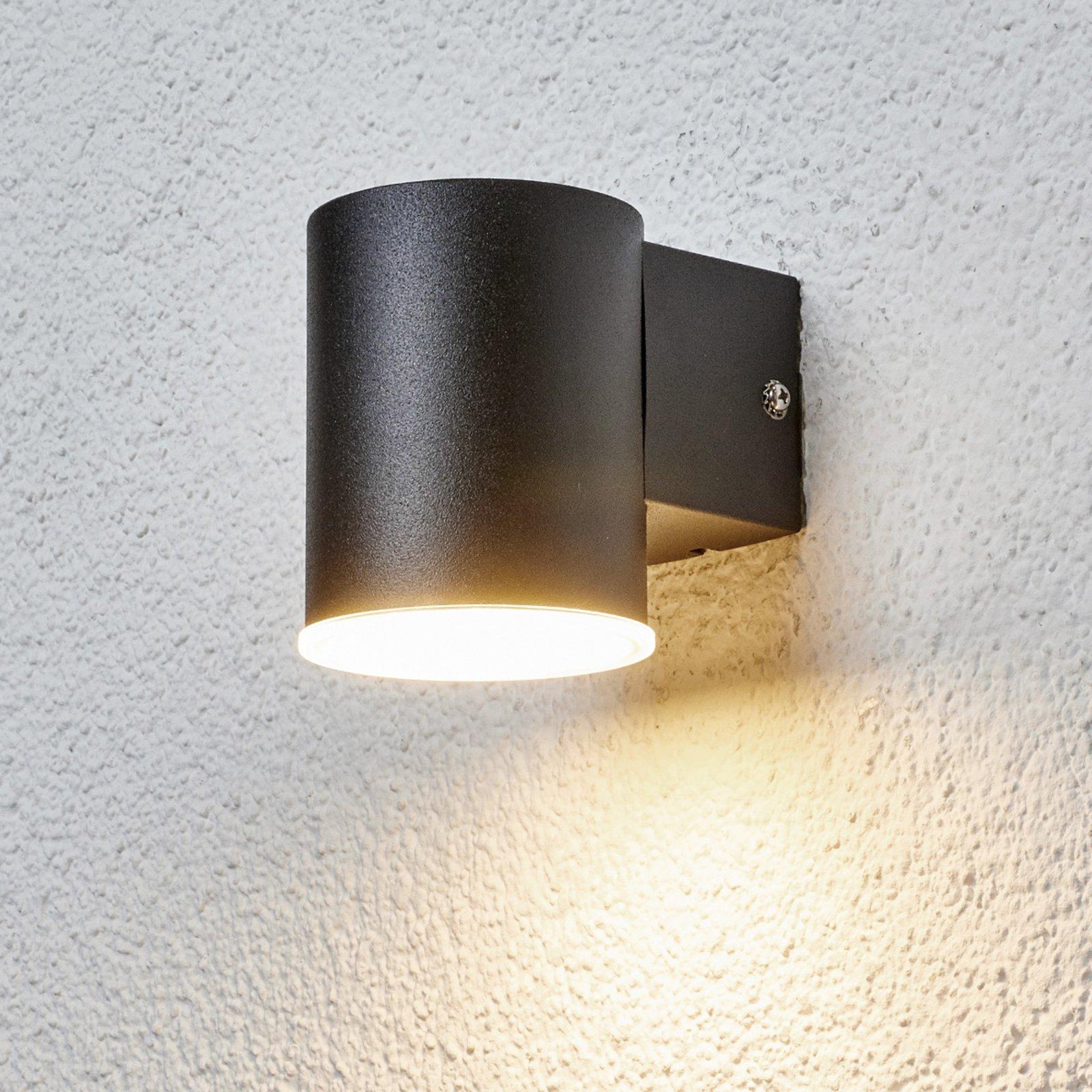 Slank LED-utevegglampe Morena i svart
