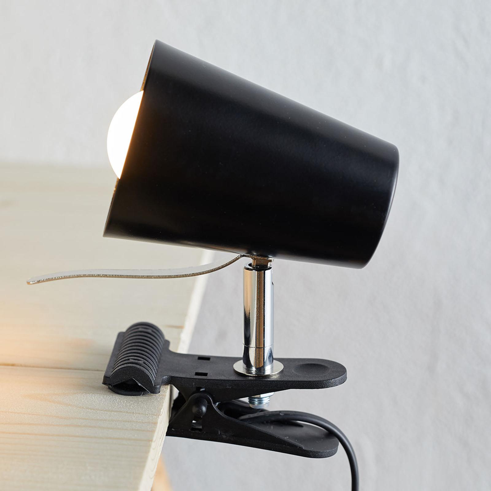 Musta klipsivalaisin Clampspots, moderni design