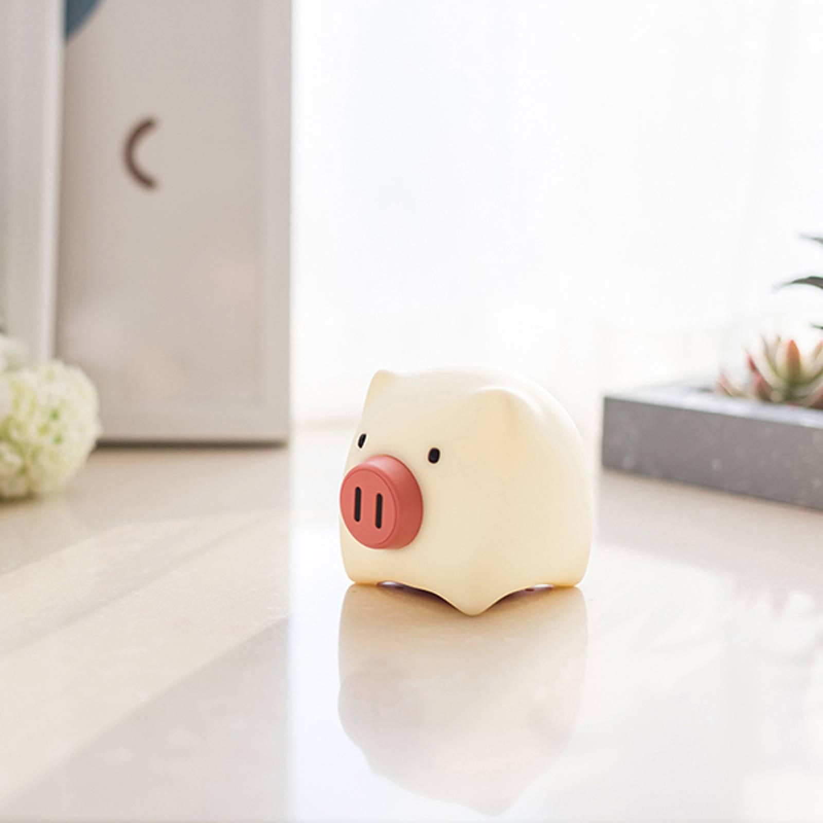 LED-yövalo Piggy Pig, akku