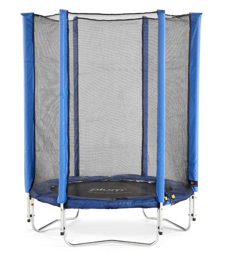 Plum Junior Trampoline inkl. Sikkerhetsnett 140 cm, Blå