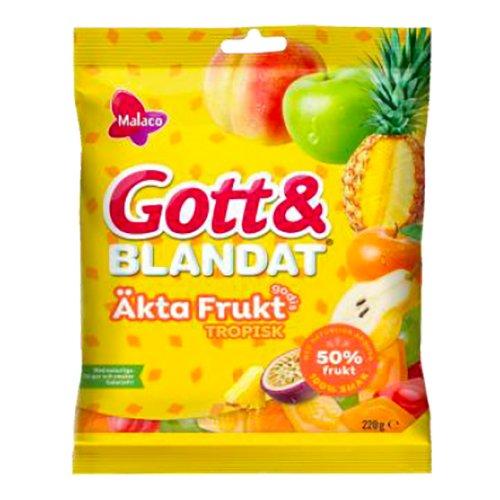 Malaco Gott & Blandat Äkta Frukt Tropisk - 100 g