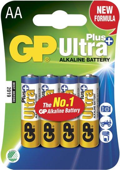 GP Batterier Ultra Plus Alkaline AA 4-pack